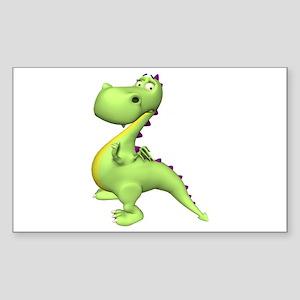 Puff The Magic Dragon - Green Sticker (Rectangular