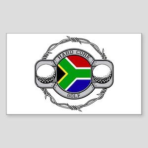South Africa Golf Rectangle Sticker