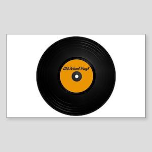 Old School Vinyl Record Rectangle Sticker