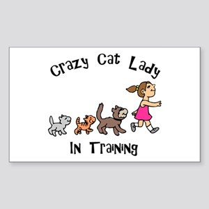 Crazy Cat Lady In Training Rectangle Sticker