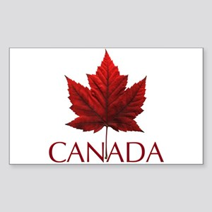 Canada Maple Leaf Souvenir Sticker (Rectangle)
