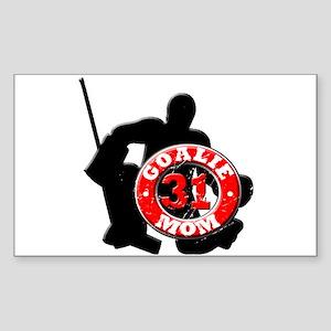 Hockey Goalie Mom #31 Rectangle Sticker