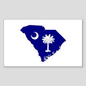 South Carolina Palmetto Rectangle Sticker