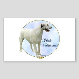 Wolfhound Portrait Rectangle Sticker