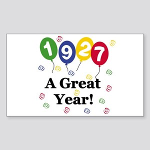 1927 A Great Year Rectangle Sticker