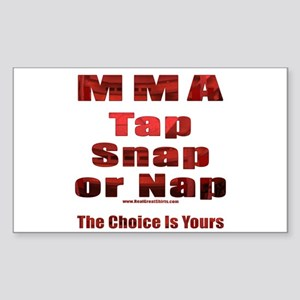 Tap Snap or Nap Rectangle Sticker