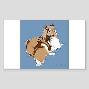 The Artsy Dog Rectangle Sticker