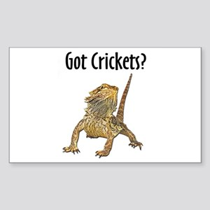 Bearded Dragon Got Crickets Rectangle Sticker