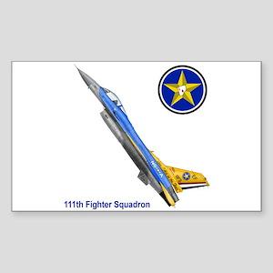 111th Fighter Squadron Rectangle Sticker