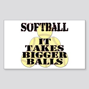 It Takes Bigger Balls Rectangle Sticker