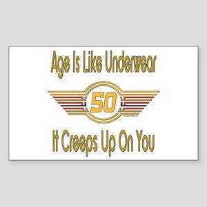 Funny 50th Birthday Rectangle Sticker
