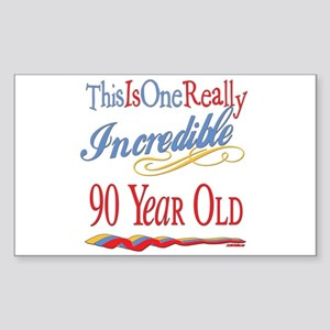 Incredible At 90 Rectangle Sticker