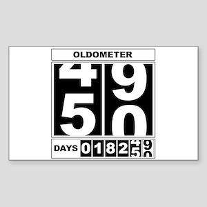 50th Birthday Oldometer Rectangle Sticker