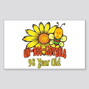 Un-Bee-Lievable 98th Rectangle Sticker