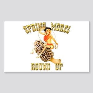 spring morel round up Rectangle Sticker