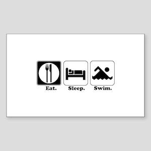 Eat. Sleep. Swim. Rectangle Sticker