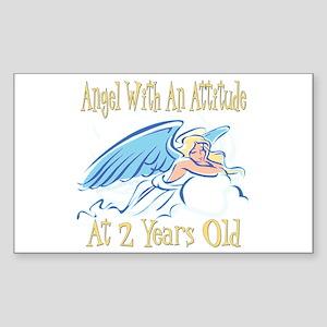 Angel Attitude 2nd Rectangle Sticker