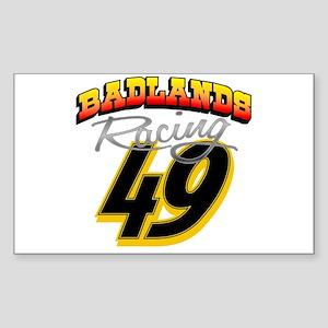 Badlands Racing Rectangle Sticker
