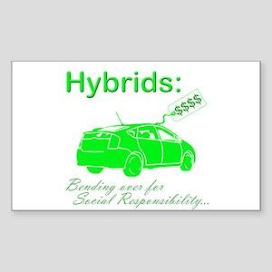 Hybrids: Social Responsibility Rectangle Sticker