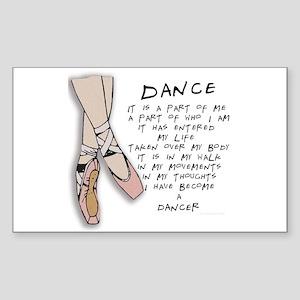 Dance Rectangle Sticker