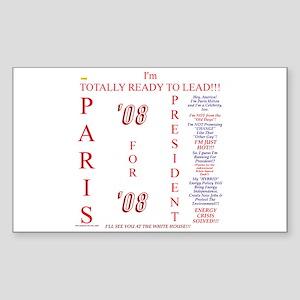 Paris '08 Rectangle Sticker