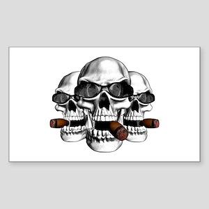 Cool Skulls Rectangle Sticker