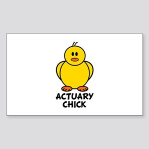 Actuary Chick Rectangle Sticker
