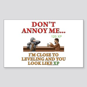 Don't Annoy... Rectangle Sticker