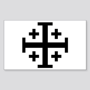 Cross Potent Sticker (Rectangle)