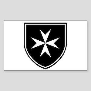 Cross of Malta Sticker (Rectangle)
