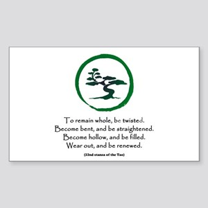 The Tao of the Tree Sticker (Rectangle)