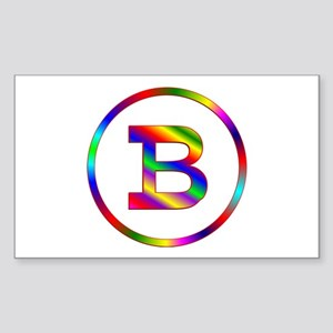 Letter B Sticker (Rectangle)