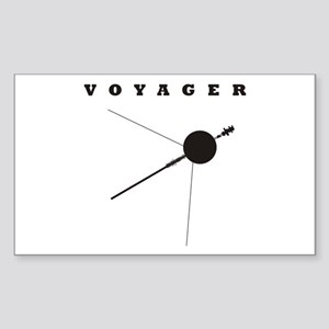 Voyager Space Probe Sticker (Rectangle)