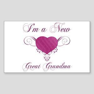 Heart For New Great Grandmas Sticker (Rectangle)