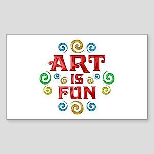 Art is Fun Sticker (Rectangle)