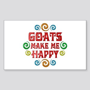 Goat Happiness Sticker (Rectangle)