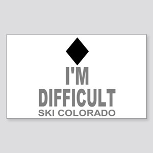 I'm Difficult Ski Colorado Sticker (Rectangle)