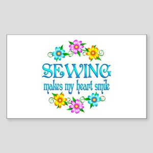 Sewing Smiles Sticker (Rectangle)