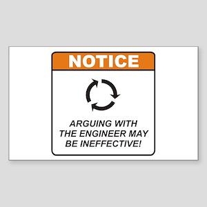 Engineer / Argue Sticker (Rectangle)