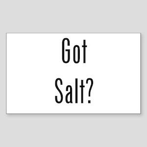 Got Salt? Black Sticker (Rectangle)