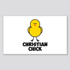 Christian Chick Sticker (Rectangle)