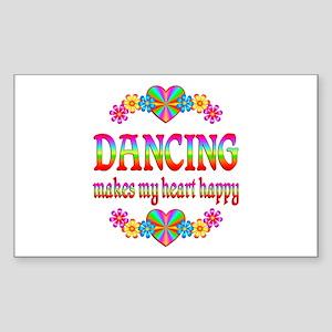Dancing Happy Sticker (Rectangle)