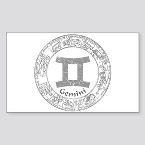 Gemini Zodiac sign Sticker (Rectangle)
