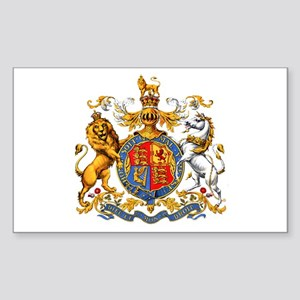 Royal Coat Of Arms Sticker (Rectangle)