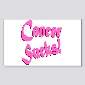 Cancer Sucks Funny Pink Sticker (Rectangle)