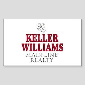 Keller Williams Mugs Sticker (Rectangle)
