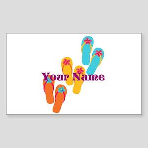 Personalized Flip Flops Sticker