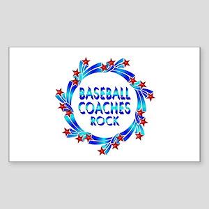 Baseball Coaches Rock Sticker (Rectangle)