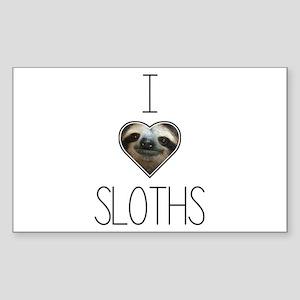 i love sloths Sticker