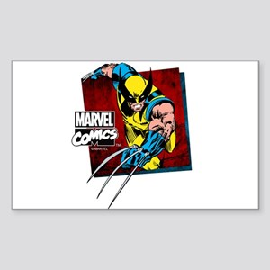 Wolverine Square Sticker (Rectangle)